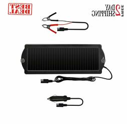 12v Solar Battery Charger Maintainer Car Boat Powered Trickl