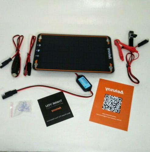 12v solar car battery trickle charger maintainer