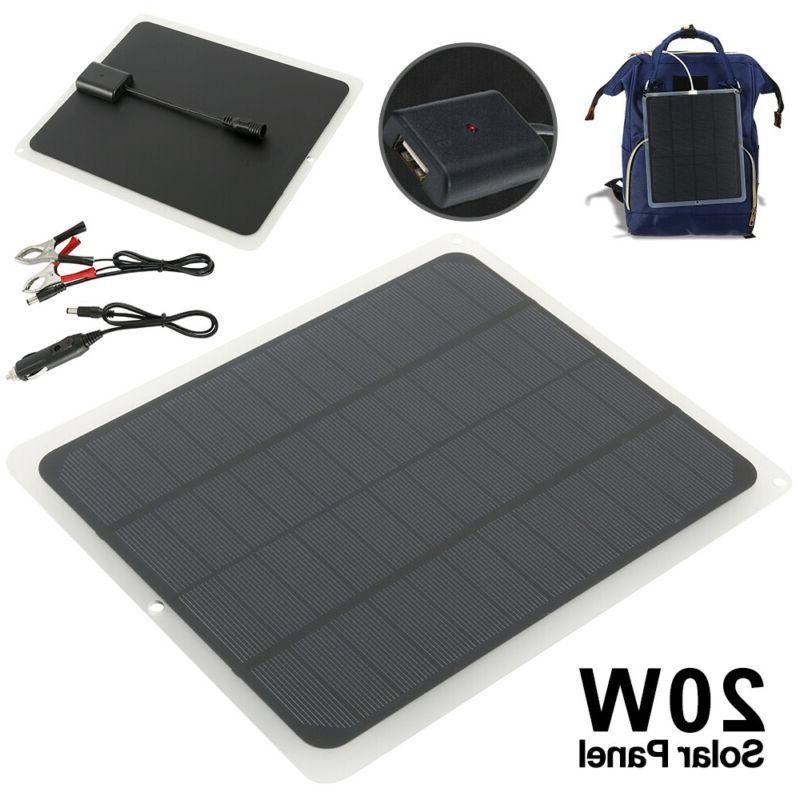 20w solar panel 12v trickle charge battery