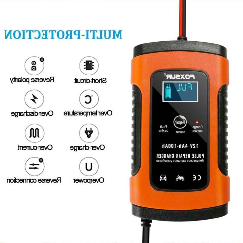 12v 6a intelligent battery maintainer charger trickle
