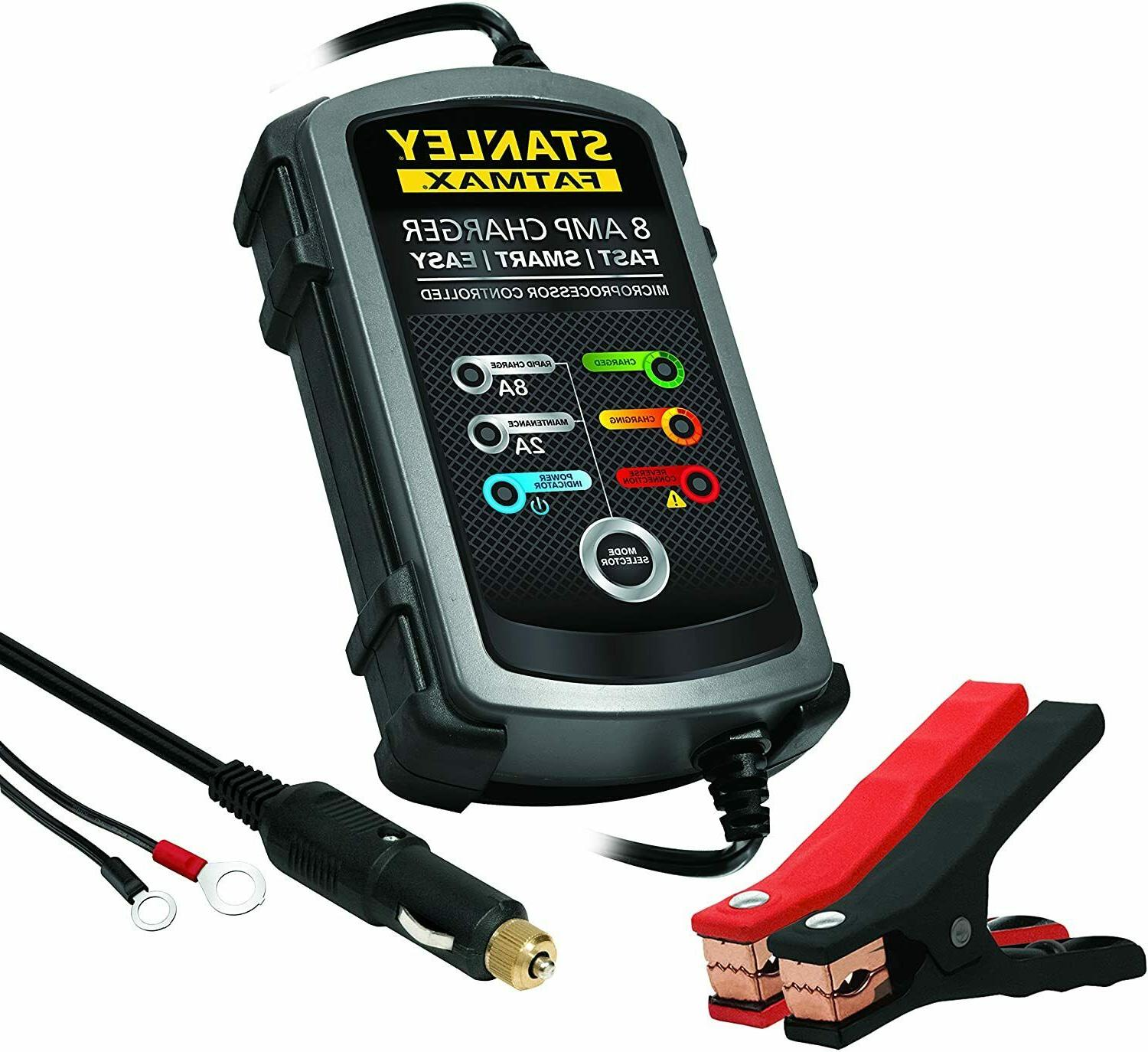 fatmax 8 amp battery charger maintainer bc8s