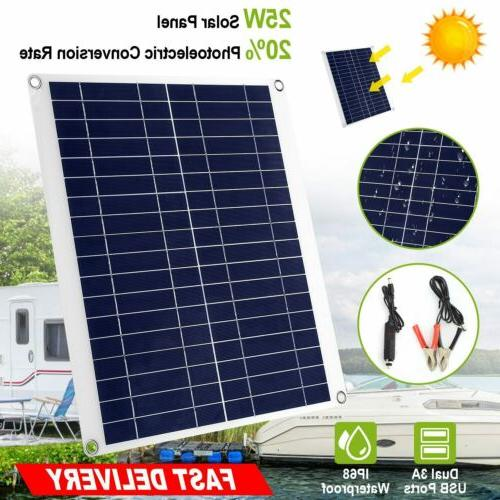 solar panel 12v battery charger system maintainer