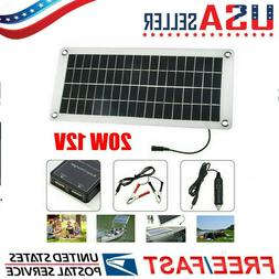 Outdoor Solar Panel 20W Trickle Charge Battery Charger Kit M