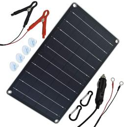 Solar Panel Car Battery Charger 10W 12V Portable Trickle Mai